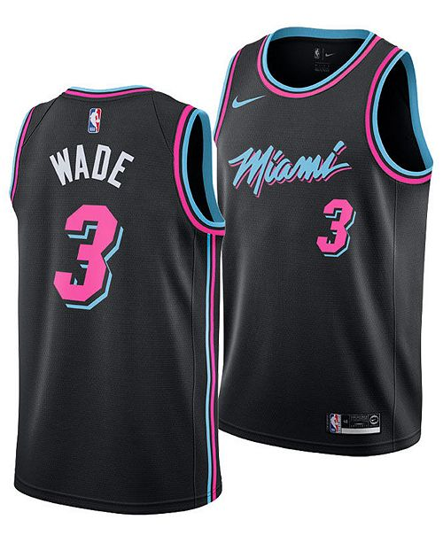 premium selection 6c742 271a3 Nike Dwyane Wade Miami Heat City Edition Swingman Jersey ...