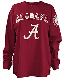 Pressbox Women's Alabama Crimson Tide  Long Sleeve Boyfriend T-Shirt