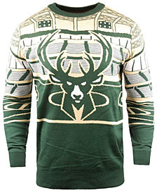 Forever Collectibles Men's Milwaukee Bucks Bluetooth Sweater