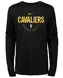 Nike Cleveland Cavaliers Long Sleeve Practice T-Shirt, Big Boys (8-20)