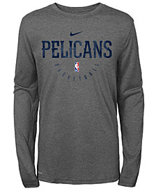 Nike New Orleans Pelicans Long Sleeve Practice T-Shirt, Big Boys (8-20)