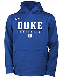 Nike Duke Blue Devils Therma Hooded Sweatshirt, Big Boys (8-20)