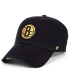 Brooklyn Nets Met Gold CLEAN UP Cap