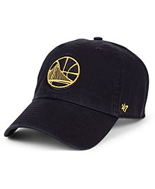 '47 Brand Golden State Warriors Met Gold CLEAN UP Cap