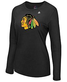 Women's Chicago Blackhawks Primary Logo Long Sleeve T-Shirt