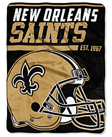 Northwest Company New Orleans Saints Micro Raschel 40 Yard Dash Blanket
