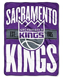 Sacramento Kings Micro Raschel Clear Out Throw Blanket