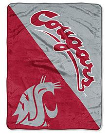 Northwest Company Washington State Cougars Micro Raschel Halftone Blanket