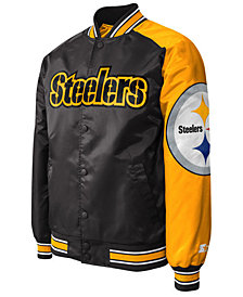 G-III Sports Men's Pittsburgh Steelers Starter Dugout Playoff Satin Jacket