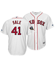 Majestic Men's Chris Sale Boston Red Sox 2018 World Series Patch Player Cool Base Jersey