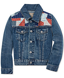 Polo Ralph Lauren Little Girls Patchwork Denim Trucker Jacket