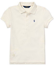 Polo Ralph Lauren Big Girls Flag Graphic Polo
