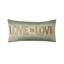 "Celebrations Pillow Gold Embroidered ""Love Is Love"""