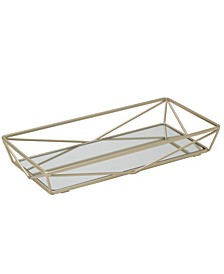 Geometric Mirrored Vanity Tray