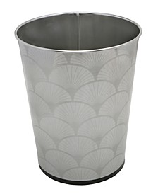5L Trash Can with Scallop Design