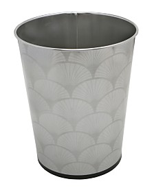 Bath Bliss 5L Trash Can with Scallop Design
