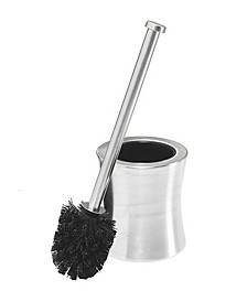 Hour Glass Shaped Stainless Steel Toilet Brush and Holder