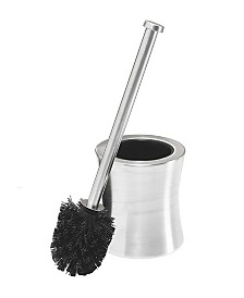 Bath Bliss Hour Glass Shaped Stainless Steel Toilet Brush and Holder