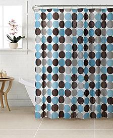 Bath Bliss Circles Design Shower Curtain