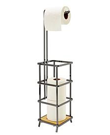 Natural Bamboo Toilet Paper Holder & Dispenser