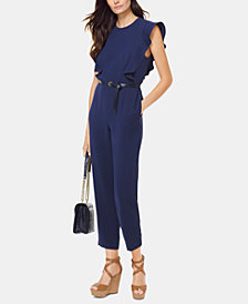MICHAEL Michael Kors Belted Ruffled Jumpsuit, Regular & Petite