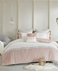 Myla Cotton 7-Pc. Reversible Full/Queen Comforter Set