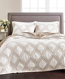 Martha Stewart Collection Gramercy Gate 100% Cotton Quilt and Sham Collection, Created for Macy's