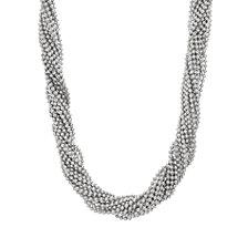 Steve Madden Beaded Interlock Necklace