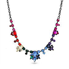 Steve Madden Rainbow Geo Shape Bib Necklace