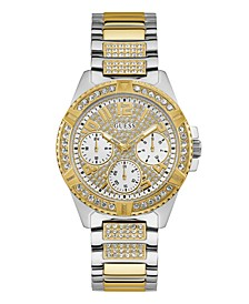 Two-tone Stainless Steel Bracelet Strap With Crystal Detail Watch 40MM, Created for Macy's