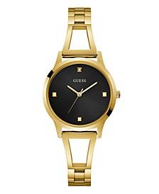 Women's Gold Black Diamond Self-adjustable G-Link   Watch 25MM