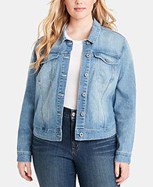 Jessica Simpson Juniors' Plus Size Cotton Denim Jacket