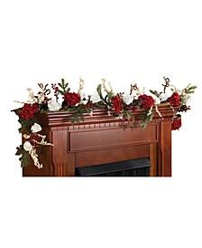 "72"" Hydrangea w/ White Roses Garland"