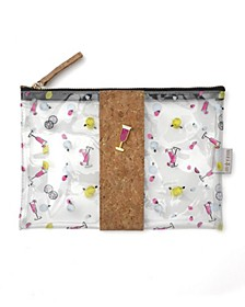 Ditsy Brunch Cork and Clear Pouch