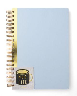 Mara-Mi Mug Life Large Spiral Notebook