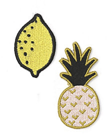 Mara-Mi Embroidered Fruit Patch Set