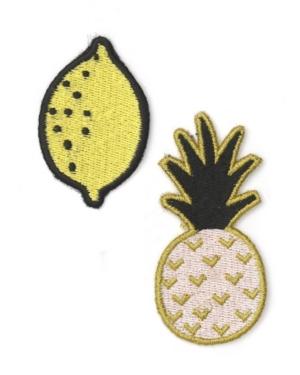 Mara-Mi Embroidered Fruit Patch Set