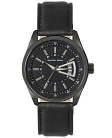 Black Dial Silver Accent Black Strap Watch