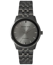 Genuine Black Diamond Dial Bracelet Watch