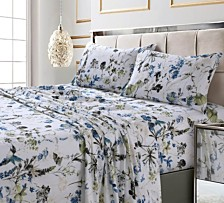 Amalfi Printed 300 TC Cotton Sateen Extra Deep Pocket King Sheet Set