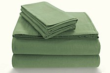 Flannel 170-GSM Cotton Solid Extra Deep Pocket Queen Sheet Set