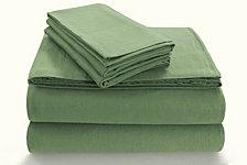 Tribeca Living Flannel 170-GSM Cotton Solid Extra Deep Pocket Queen Sheet Set