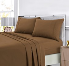Tribeca Living Super Soft Solid DP Easy-Care Extra Deep Pocket Full Sheet Set