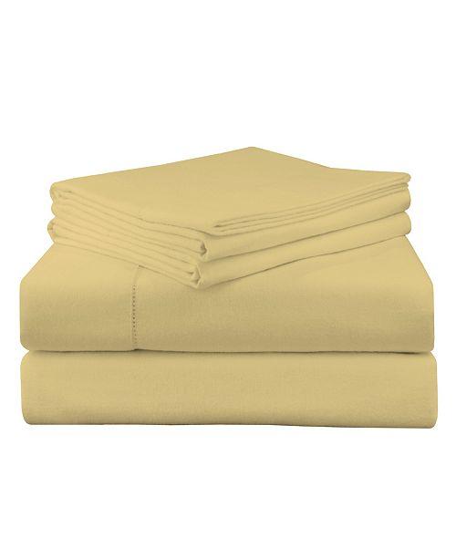 Pointehaven Luxury Weight Flannel Sheet Set Queen