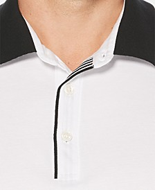 Men's Big & Tall Regular-Fit Stripe-Trim Polo