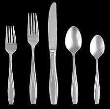 Tulip Frosted 20-PC Flatware Set, Service for 4