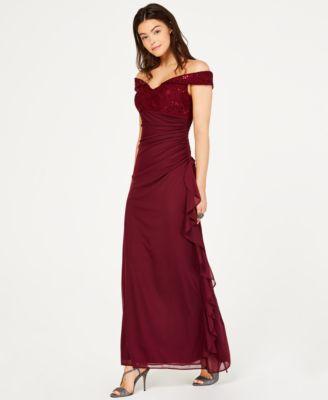 Empire Waist Tea Length Mother of the Bride Dresses