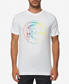 O'Neill Men's Rainbow Logo Graphic T-Shirt