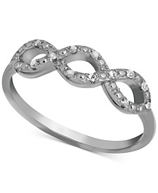 Diamond Infinity Ring (1/10 ct. t.w.) in Sterling Silver