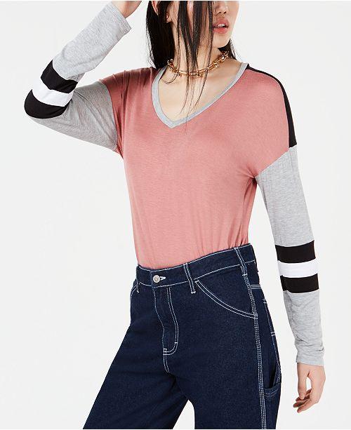 Ultra Flirt By Ikeddi Juniors' Colorblocked Football T-Shirt